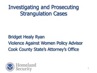 Investigating and Prosecuting Strangulation Cases