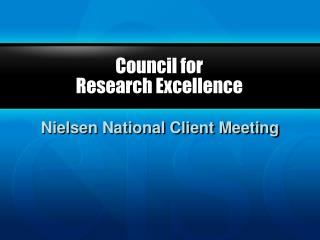 Council for  Research Excellence