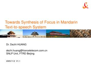 Towards Synthesis of Focus in Mandarin Text-to-speech System