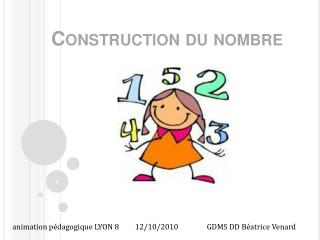 Construction du nombre