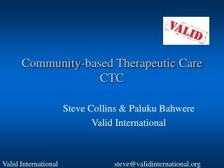 Community-based Therapeutic Care CTC