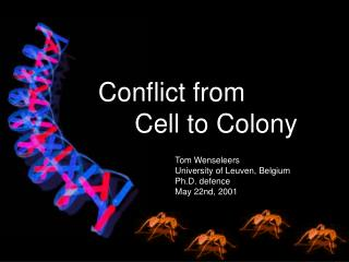Conflict from       Cell to Colony