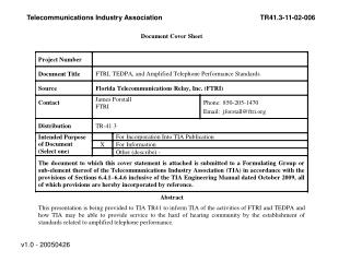 Telecommunications Industry Association	TR41.3-11-02-006