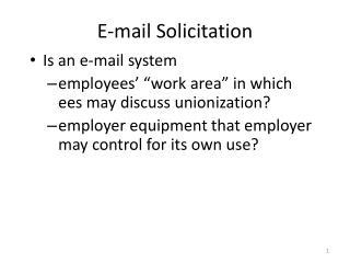 E-mail Solicitation
