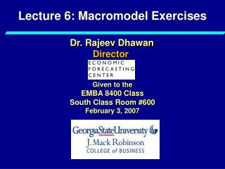 Lecture 6: Macromodel Exercises