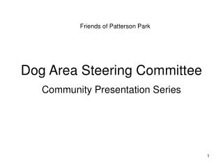 Dog Area Steering Committee