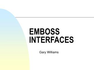 EMBOSS INTERFACES