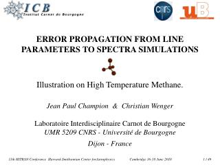 ERROR PROPAGATION FROM LINE PARAMETERS TO SPECTRA SIMULATIONS