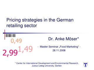 Pricing strategies in the German retailing sector