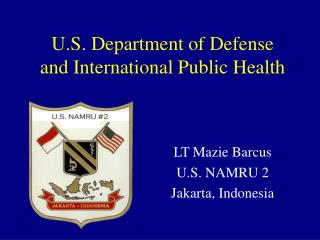 U.S. Department of Defense and International Public Health