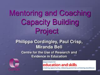 Mentoring and Coaching Capacity Building Project