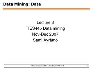Data Mining: Data