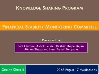 Knowledge Sharing Program