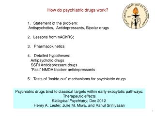 How do psychiatric drugs work?