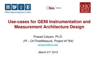 Use-cases for GENI Instrumentation and Measurement Architecture Design