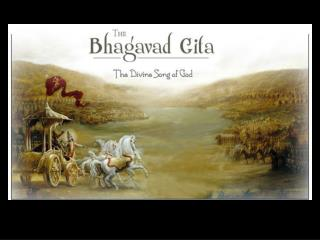 The  Bhagavad Gita  is a part of a larger text called the  Mahabharata.