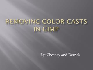 Removing Color Casts in GIMP
