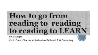 How to go from reading to reading to reading to LEARN