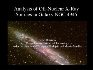 Analysis of Off-Nuclear X-Ray Sources in Galaxy NGC 4945