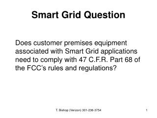 Smart Grid Question