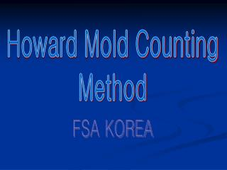 Howard Mold Counting Method