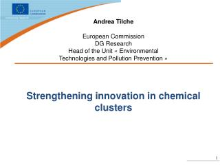 Strengthening innovation in chemical clusters
