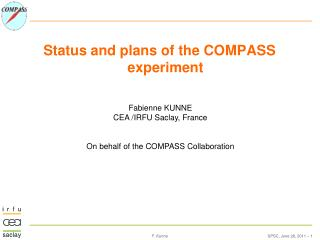 Status  and plans of the COMPASS  experiment