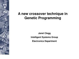 A new crossover technique in Genetic Programming