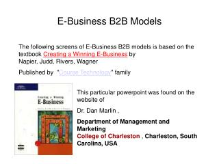 E-Business B2B Models