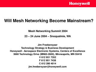 Will Mesh Networking Become Mainstream