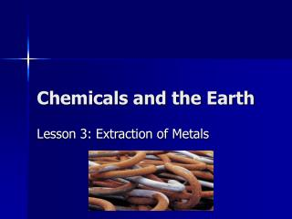 Chemicals and the Earth