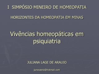 HOMEOPATIA NO HOSPITAL ANDRÉ LUIZ