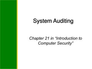 System Auditing