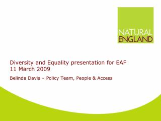 Diversity and Equality presentation for EAF  11 March 2009