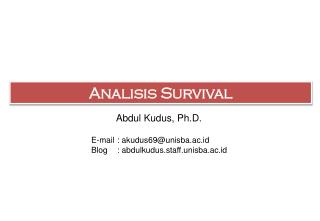 Analisis  Survival