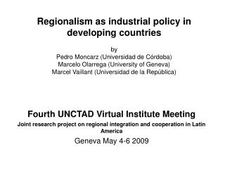 Fourth UNCTAD Virtual Institute Meeting