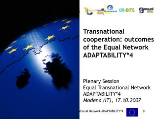 Transnational cooperation: outcomes of the Equal Network ADAPTABILITY*4