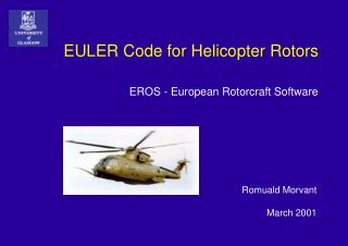 EULER Code for Helicopter Rotors