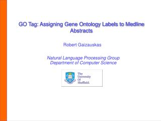 GO Tag: Assigning Gene Ontology Labels to Medline Abstracts