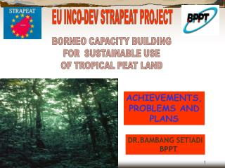 BORNEO CAPACITY BUILDING  FOR  SUSTAINABLE USE  OF TROPICAL PEAT LAND