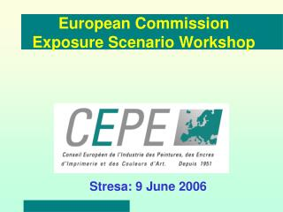 European Commission Exposure Scenario Workshop