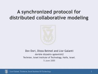 A synchronized protocol for distributed collaborative modeling