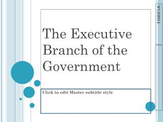 The Executive Branch of the Government