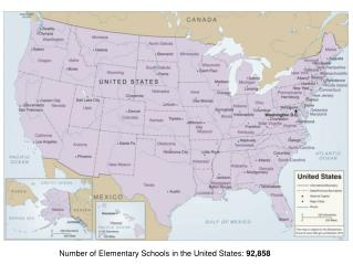 Number of Elementary Schools in the United States:  92,858