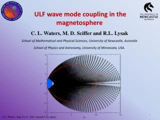ULF wave mode coupling in the magnetosphere C. L. Waters, M. D. Sciffer and R.L. Lysak