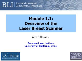 Module 1.1: Overview of the  Laser Breast Scanner