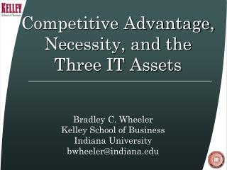 Competitive Advantage, Necessity, and the Three IT Assets