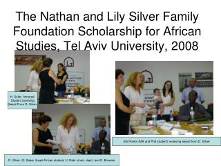 Adi Rotem (MA and Phd student) receiving award from D. SIlver