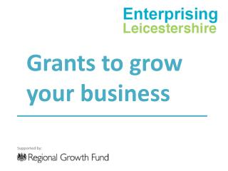 Grants to grow your business