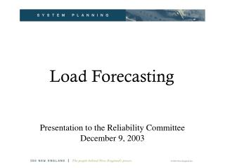 Load Forecasting